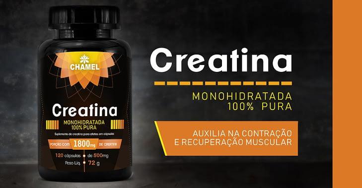 Creatina Monohidratada 100% Pura - Contração e recuperação muscular